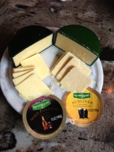 Irish cheese sliced