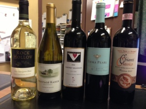five new wines