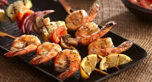 lemon pepper shrimp skewers