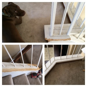 stair trim repair