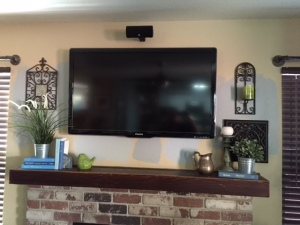 camo wall with mantle