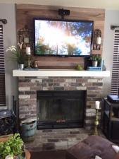 gray blog fireplace