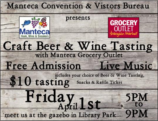 Craft Beer & Wine Tasting Sign